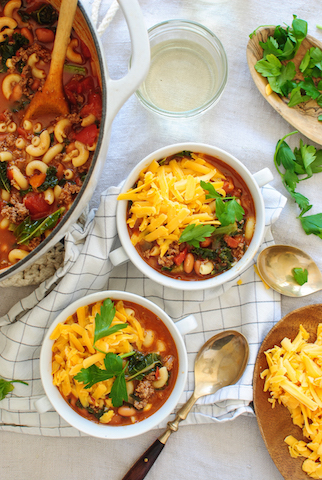smokey chili mac soup